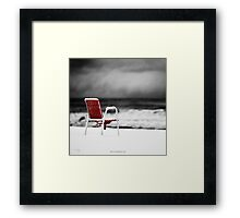 Sea Snow Framed Print