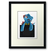 Pocket Totodile Framed Print