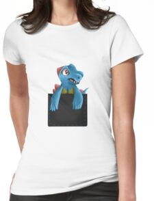 Pocket Totodile Womens Fitted T-Shirt