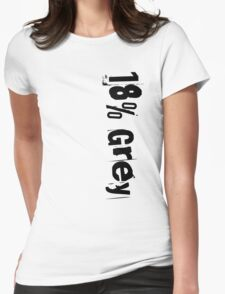 18% Grey Womens Fitted T-Shirt
