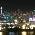 Seattle Skyline from Smith Cove Park by Gary Rea