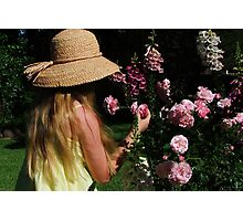 Taking Time to Smell The Roses! Photographic Print