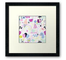 Soft Pop Summer Fun Framed Print