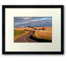 Winding Road Across the Golden Fields, Aberdeenshire, Scotland Framed Print