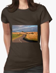 Winding Road Across the Golden Fields, Aberdeenshire, Scotland Womens Fitted T-Shirt