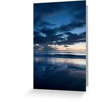 Blackpool Beach @ Twilight Greeting Card