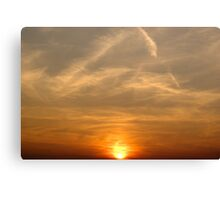 Wild Winds and the Setting Sun Canvas Print