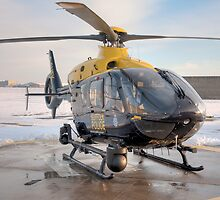 Suffolk Police Helicopter by William Davies