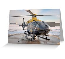 Suffolk Police Helicopter Greeting Card
