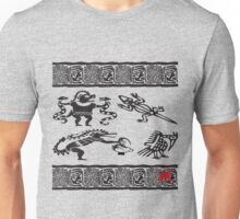 aztec gods tshirt for rogers bros construction Unisex T-Shirt