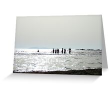 Silver sea Greeting Card