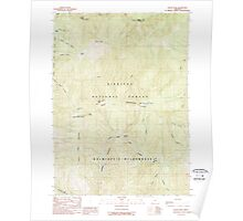 USGS Topo Map Oregon Silver Peak 281511 1989 24000 Poster