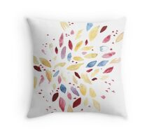 Colourful Fresh Leaves Throw Pillow