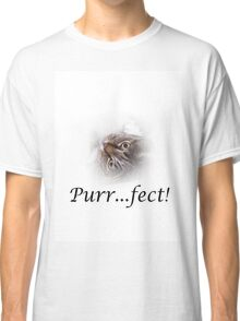 Cute Tabby Cat Purr...fect!  Classic T-Shirt