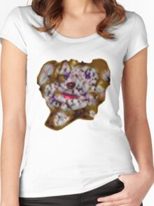 Scribbler Puppy Tee Women's Fitted Scoop T-Shirt