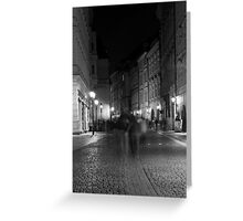 Night Scene on a Prague Street Greeting Card