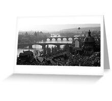 Prague Bridges Greeting Card