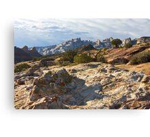 Split Mountain Country Canvas Print