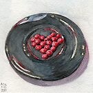 Red Hots on Plate by Amy-Elyse Neer