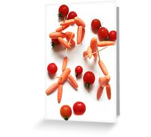 Medieval Carrots! Greeting Card