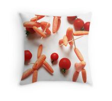 Medieval Carrots! Throw Pillow