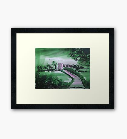 'Great Mitton: Where The Hodder and Ribble Meet' Framed Print