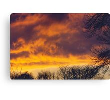 Sunset, December 31, 1999 Canvas Print