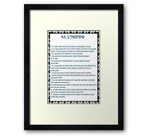 Narcotics Anonymous 12 Tradition Poster Framed Print