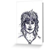 Self portrait in Biro Greeting Card