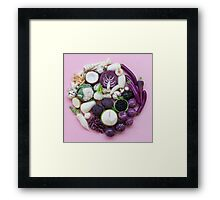 Vegetable Ying and Yang Framed Print