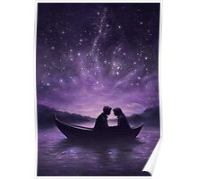 Lovers under a starlit sky Poster