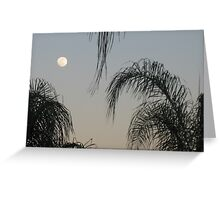 Full Moon Before Sunset Greeting Card