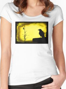 The Birds, style #3 Women's Fitted Scoop T-Shirt