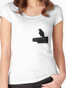 The Birds, style #6 Women's Fitted Scoop T-Shirt