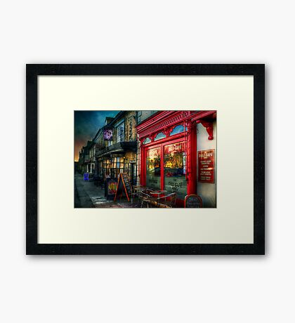 The Deli Cafe Framed Print