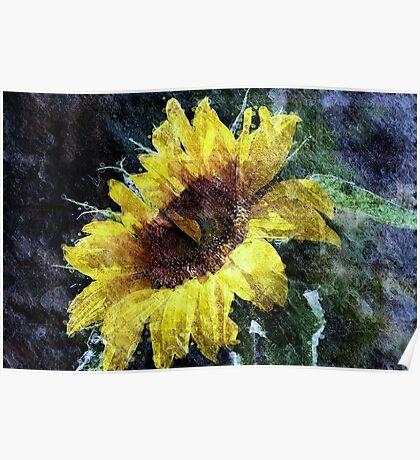 Sunflower Mist Poster