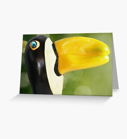Pepper-Toco Toucan Greeting Card