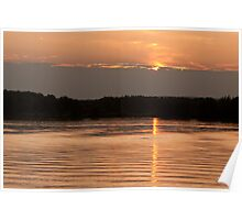 SunSet On Gray Clouds Poster