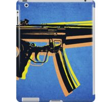 MP5 Sub Machine Gun on Blue iPad Case/Skin