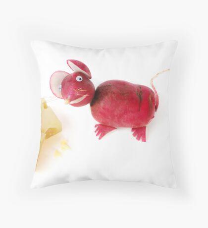 Radish Mice Throw Pillow