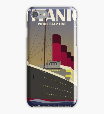 Titanic Ocean Liner Art Deco Print iPhone Case/Skin
