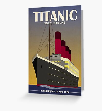 Titanic Ocean Liner Art Deco Print Greeting Card
