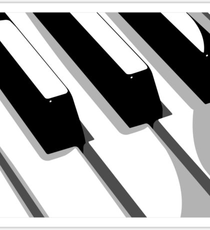 Piano Keyboard Pop Art Sticker