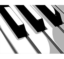Piano Keyboard Pop Art Photographic Print