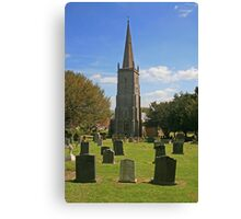 St Mary's, East Brent Canvas Print