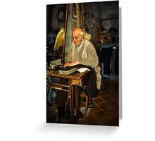Old Tailor Gozo Greeting Card