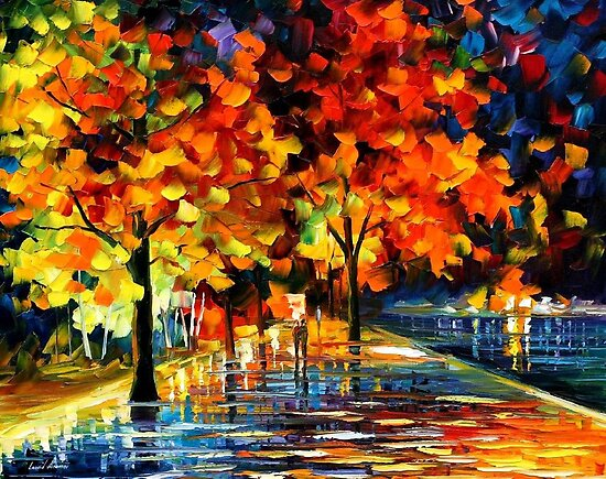 Rivershore Park - original oil painting on canvas by Leonid Afremov by Leonid  Afremov