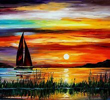 Florida Lake Okeechbee - original oil painting on canvas by Leonid Afremov by Leonid  Afremov