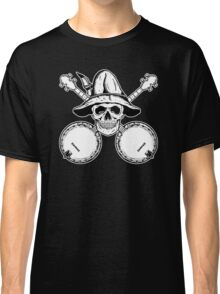 Blue Grass Skull and Banjos Classic T-Shirt