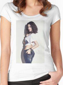 T-ara - JiYeon Women's Fitted Scoop T-Shirt